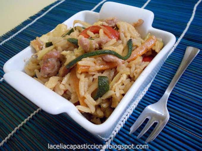 Riso saltato con verdure salsiccia e salsa di soia for Menu cinese ricette