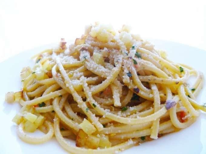 Spaghetti al pesto di agrumi ricetta petitchef for Ricette primi piatti veloci bimby
