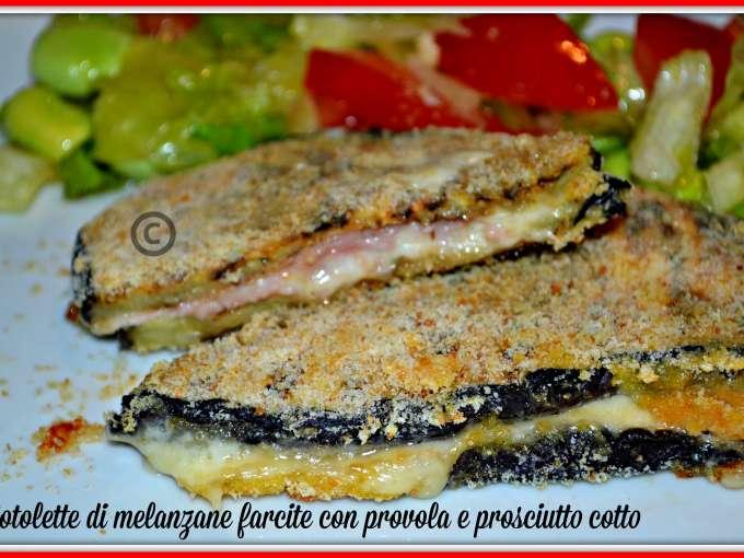 Cotolette di melanzane al forno gustose e light for Melanzane ricette