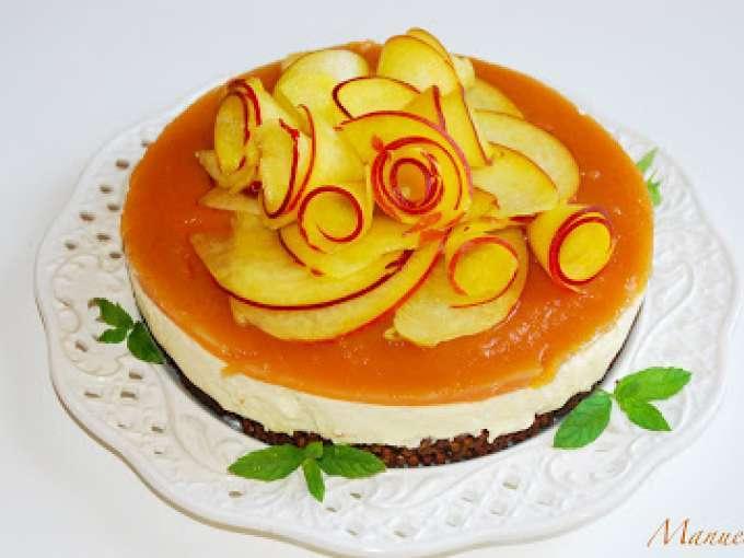 Cheesecake ricotta crema al limone e pesche ricetta for Ricette dessert