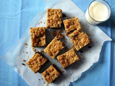 Ricetta Barrette di fudge all' avena