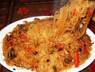 Ricetta Noodles Di Soia.Spaghetti Di Soya Con Verdure E Seitan Saltati Al Wok Ricetta Petitchef