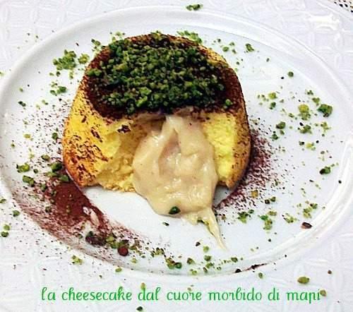 Mini japanese cheesecake dal cuore morbido di pistacchio