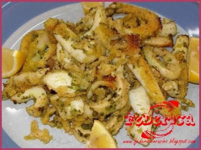 bello e affascinante nuovi stili promozione Anelli di calamaro e seppie gratinati al forno