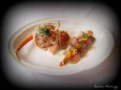 Antipasto di pesce marinato e granchio ricetta petitchef for Cucinare granchio