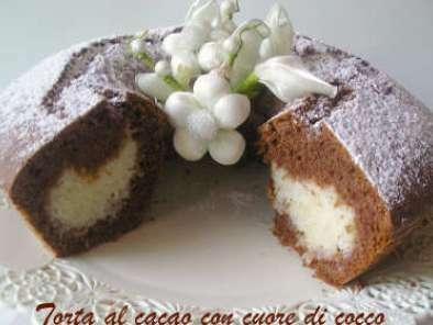 Ciambella Al Cacao Con Cuore Di Cocco Ricetta Petitchef