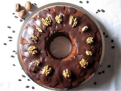 Ciambellone Soffice Al Caffè Con Glassa Al Cioccolato Fondente E