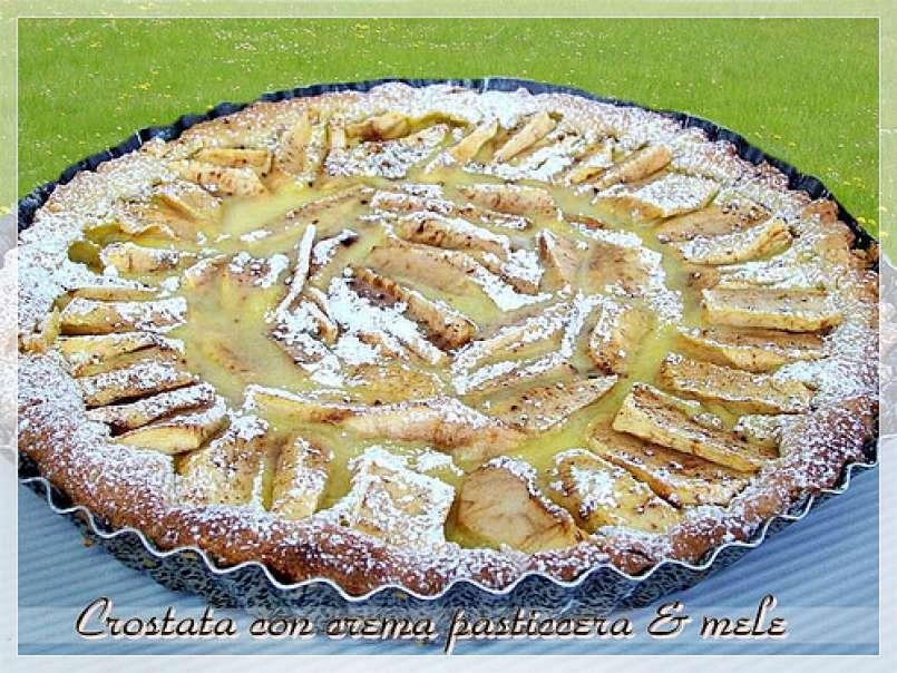 Ricetta Crema Pasticcera E Mele.Crostata Con Crema Pasticcera E Mele Ricetta Petitchef