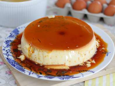 Flan all'uovo con caramello