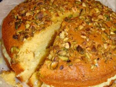 Torta di limone e mandorle con crema al pistacchio