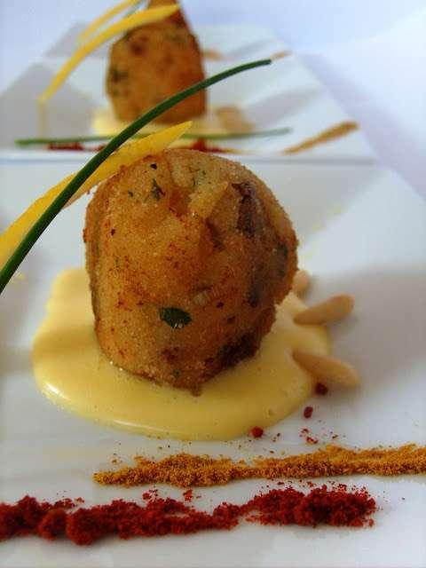 polpettine esotiche in crema di limone very finger food
