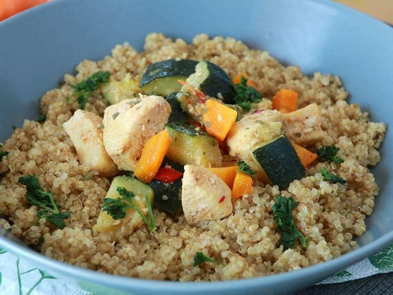 Ricette Con Quinoa Pollo E Verdure.Quinoa Con Pollo E Verdure Ricetta Petitchef