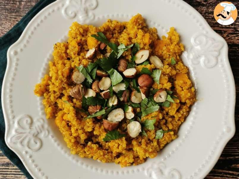 Ricette Vegetariane Quinoa.Risotto Di Quinoa Con Zucca Nocciole E Coriandolo Fresco Ricetta Vegetariana Ricetta Petitchef