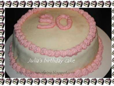 Torta Di Compleanno Ai Marshmallow Bianchi E Panna Rosa Vincitore